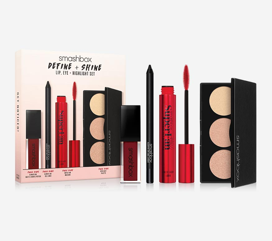 Define & Shine Lip, Eye & Highlight Set